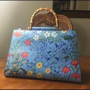 Gucci Nymphaea Floral Large Satchel with Strap